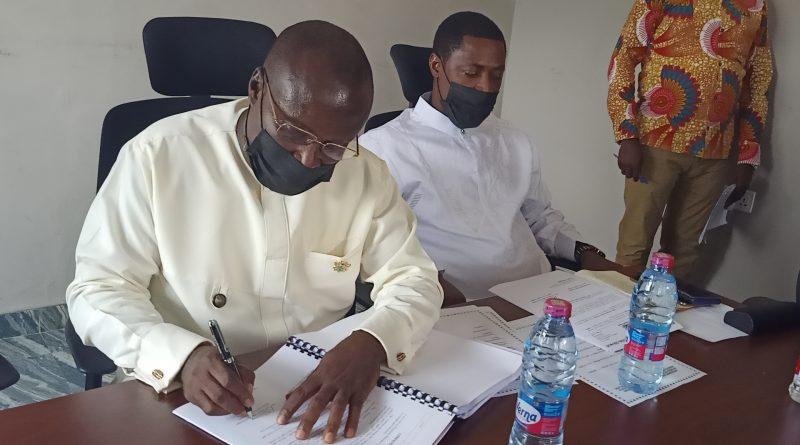 Hon.Kingsley Aboagye,Handing Over