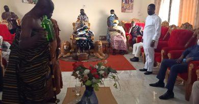 Hon.Richard Obeng&Hon,Kingsley Visted the OmanHene?
